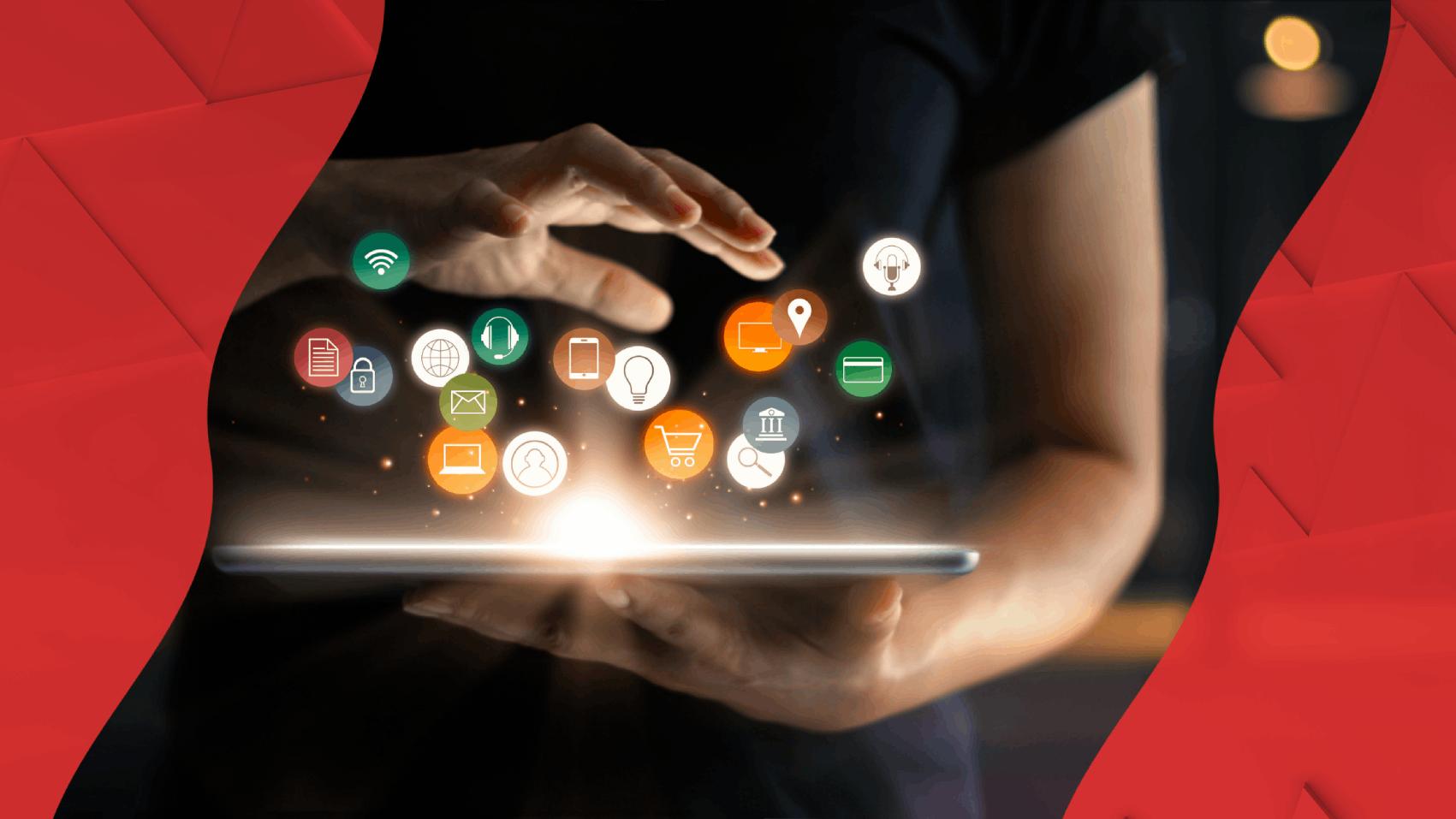 online applications on a tablet : bank van breda and hubspot