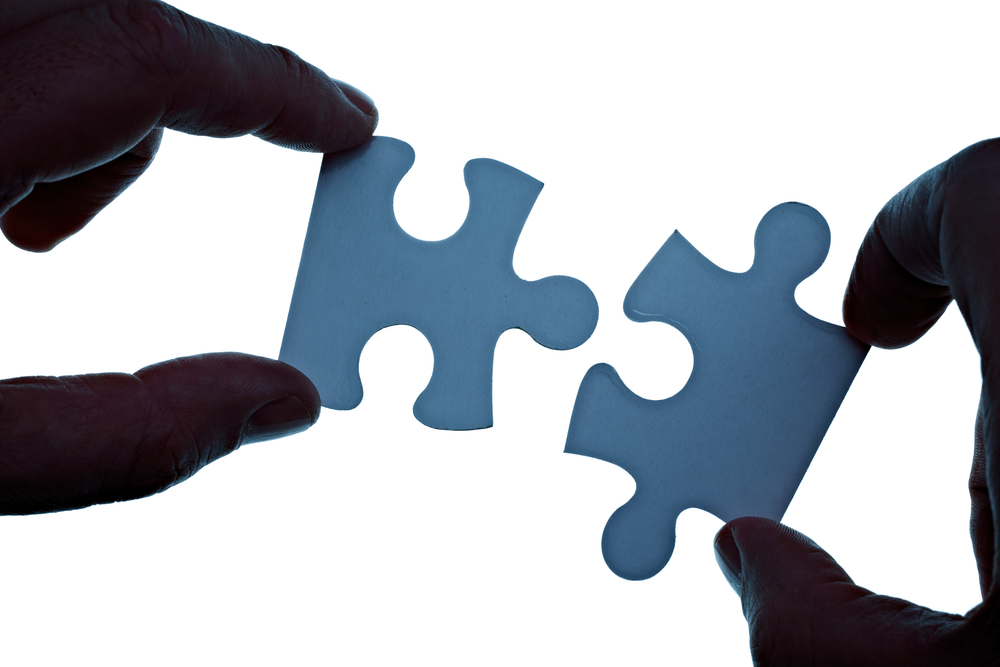 close up of a puzzle game parts integration hubspot Shopify