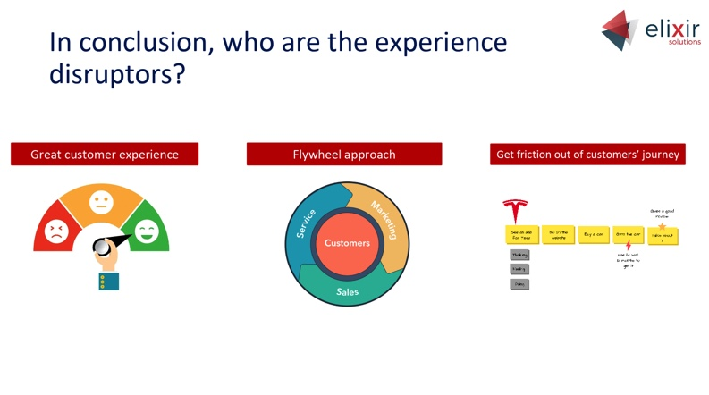 the three pillars of experience disruptors